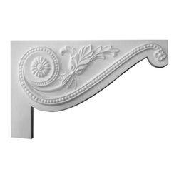 """Ekena Millwork - 11""""W x 7""""H x 5/8""""D Large Pearl Stair Bracket, Right - 11""""W x 7""""H x 5/8""""D Large Pearl Stair Bracket, Right. With the beauty of original and historical styles, decorative stair brackets add the finishing touch to stair systems. Manufactured from a high density urethane foam, they hold the same type of density and detail as traditional plaster stair bracket products. They come factory primed and can be easily installed using standard finishing nails and/or polyurethane construction adhesive."""