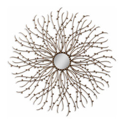 Uttermost - Hemera Antique Gold Mirror - Like a sunburst, this mirror will add warmth and energy to your home. It's more than a mirror; it's a work of art. Be sure to place it on a prominent wall — the Grace Feyock-designed mirror will light up the entire room.