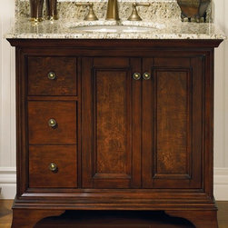 "Bath Vanity 36"" - FD Newhaven 36"" Vanity Drawer - left"
