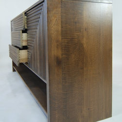 Eclectic-Contemporary White Oak Credenza - AspenAG - For / By www.CabAndTrim.com