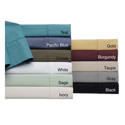 None - Andiamo Solid 500 Thread Count Egyptian Cotton Sheet Set - Transform your bedroom d�cor instantly with these elegant 500-thread count sheets. This sheet set of four pieces includes a flat sheet,a fitted sheet and two pillowcases for complete bedroom makeover,and features a sateen weave for extra softness.