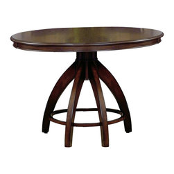 Hillsdale - Hillsdale Nottingham Round Counter Height Dining Table - Hillsdale - Dining Tables - 4077DTBG - Urban and sophisticated the tapered clean lines of the Nottingham dining collection create an effect that is fresh modern and timeless. Constructed of hardwoods and climate controlled wood composites this collection is finished in a dark walnut.