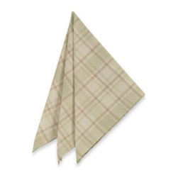 Brownstone Studio Ltd. - Tuscan Plaid Laminated Fabric Napkins (Set of 4) - This tablecloth's warm colors and classic plaid makes it an ideal choice for entertaining. The laminated fabric makes it perfect for outdoors, and it resists stains and spills.