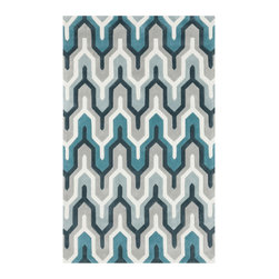 Metro Tower Rug - Reminiscent of the tallest skyscrapers, the geometric pattern in this rug will draw all eyesand then direct them wherever it points. Plus, its hand-tufted construction makes it cushy underfoot and easy to clean. What a way to draw a room together!