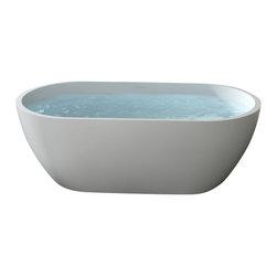 Badeloft - Badeloft - UPC Certified - Stone Resin, Freestanding Bathtub, Glossy, Large - UPC Certified -
