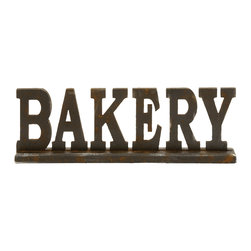 Attention Stealing Wood Bakery Sign - Description: