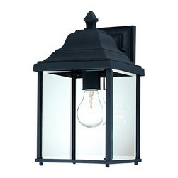 Dolan Designs - Dolan Designs 935-50 Charleston Black Outdoor Wall Sconce - Dolan Designs 935-50 Black Outdoor Lighting