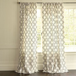 Firenze Embroidered Panel Curtain - I like the idea of swapping out curtain panels with the seasons. These panels would be a good option for locations that don't get much light during the cooler months. And the pattern is a good option for everyone!