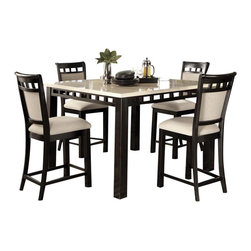 Standard Furniture - Standard Furniture Gateway White 6 Piece Counter Dining Room Set in Dark Chicory - Impressive proportions and bold styling give Gateway Dining a dynamic contemporary personality.