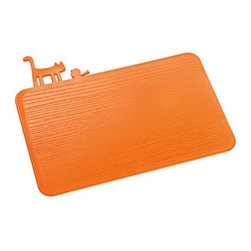 Koziol PI:P Chopping Board, Orange - Put a bird and a cat on it? Now that's just getting crazy.