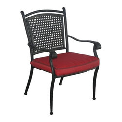 Savannah Aluminum And All Weather Wicker Rattan Dining Chair - Set of 4 - About D.C. AmericaOver the past two decades, D.C. America's dedication to hard work, quality, and service has led the company to become a premiere supplier of outdoor furnishings throughout the United States. From gazebos to garden tools to benches, D.C. America painstakingly designs and crafts standard-setting outdoor living products. Only the best materials are used for every product, ensuring longevity and durability.