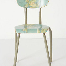 Geography Lesson Chair - This would be absolutely perfect for a kid's desk space.