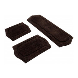 None - Chocolate Memory Foam 3-piece Bath Mat Set - Let your feet sink into these memory-foam bath rugs after every shower,featuring a soft polyester material for optimal absorbency. These chocolate-brown rugs come with a skid-resistant base to minimize slippage when stepping onto the mat.