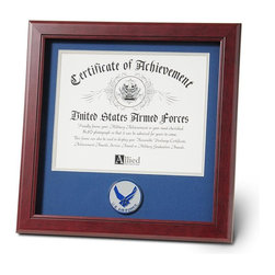 Aim High Air Force Certificate Frame - 14-Inch by 14-Inch Military Certificate Frame
