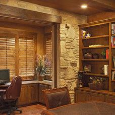 office off den with pocket doors