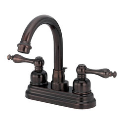 """Danze - Danze D301255RB Oil Rubbed Bronze Faucet 4"""" Centerset - Danze D301255RB Two Handle Centerset Lavatory Faucet is part of the Sheridan Bath collection.  D301255RB has an Oil Rubbed Bronze finish.  D301255RB 3 hole mount lav faucet has a 5"""" long and 7"""" high swivel spout, with metal pop-up drain.  D301255RB Two lever handles meets all requirements of ADA.  California and Vermont compliant."""