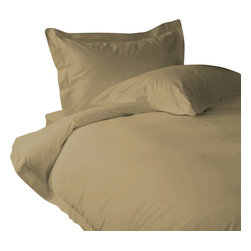 """400 TC Sheet Set 26"""" Deep Pocket with 4 Pillowcases, Taupe, Olympic Queen - You are buying 1 Flat Sheet (90 x 102 inches), 1 Fitted Sheet (66 x 80 inches) and 4 Standard Size Pillowcases (20 x 30 inches) only."""