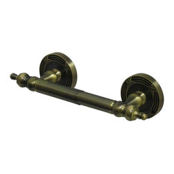 Kingston Brass - Toilet Paper Holder - Kingston Brass' bathroom accessories are built for long-lasting durability and reliability. They are designed so you can easily coordinate matching pieces. Each piece is part of a collection that includes everything you need to complete your bathroom decor. All mounting hardware is included and installation is easy.