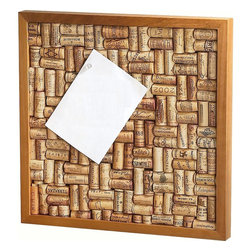 Wine Enthusiast - Wine Enthusiast Wine Cork Bulletin Board Kit - -Made in mahogany wood