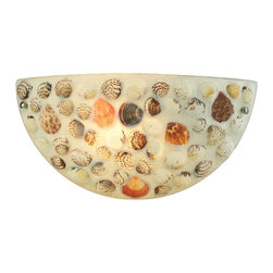 ELK Lighting - Shells 1 Light Sconce - This naturally inspired shell collection will bring a sense of tranquility with its naturally toned shells that artfully capture the light. Hardware is finished in satin nickel.