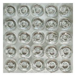 "Meltdown Glass Art & Design, LLC - Meltdown Glass Small Spheres Texture - 1/4"" or 3/8"" Clear Tempered Kiln-Fired Glass"