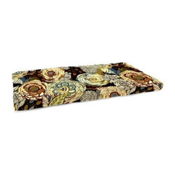 Jordan Manufacturing 12.5 x 38.5 in. Floral Indoor Bench Cushion - The Jordan Manufacturing 12.5 x 38.5 in. Floral Indoor Bench Cushion is a great way to update the look of your favorite indoor bench. Made of durable cotton, this floral cushion features French edgings, comes in your choice of color, and is filled with blown polyester fiber fill.About Jordan ManufacturingA leader in the outdoor industry for over 29 years, Jordan Manufacturing Company, Inc. takes pride in the fact that quality and customer service have always been their top priorities. They realize that their commitment does not end with the sale. This is simply the starting point in a long-running relationship. Jordan believes the customer is the ultimate judge of their products and their customers have proven their loyalty since 1975.