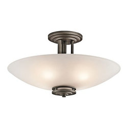 Kichler - Kichler 3677 Hendrik 3 Light Semi-Flush Indoor Ceiling Fixture - Product Features: