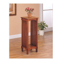 "Coaster - ""Coaster Plant Stand, Oak"" - ""Mission style plant stand in solid oak. Matches nesting tables #901049.Dimensions (W x L x H): 11.50"""" x 11.50"""" x 30.00""""Finish/Color: OakAssembly Required: YesMade in China"""