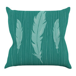 "Kess InHouse - Jaidyn Erickson ""Feathers"" Throw Pillow (16"" x 16"") - Rest among the art you love. Transform your hang out room into a hip gallery, that's also comfortable. With this pillow you can create an environment that reflects your unique style. It's amazing what a throw pillow can do to complete a room. (Kess InHouse is not responsible for pillow fighting that may occur as the result of creative stimulation)."