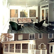Screened porch inside and out - Screened Porches Photo Gallery - Archadeck of Ch