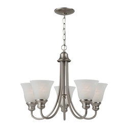Sea Gull Lighting - Sea Gull Lighting 35940-962 Windgate Brushed Nickel 5 Light Chandelier - Sea Gull Lighting 35940-782 Windgate Heirloom Bronze 5 Light Chandelier