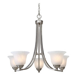 Golden Lighting - Golden Lighting 1260-5 PW 5-Light Chandelier - Golden Lighting 1260-5 PW 5-Light Chandelier