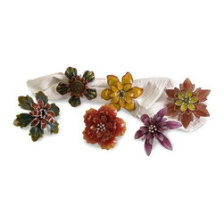 """IMAX - Ellie Napkin Rings - Set of 6 - These festive napkin ring holders bring summer to the table and are perfect for all the summer festivities. Item Dimensions: (3-3.5""""h x 2.25-2.75""""w x 3.25-4.25"""")"""