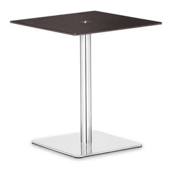 Zuo Modern - Zuo Modern Dimensional Modern Pub Table X-631106 - The understated elegance of the Dimensional table series makes it suitable for any application. Made from a tempered painted glass top and a chrome and stainless steel base.