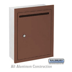 Salsbury Industries - Letter Box (Includes Commercial Lock) - Standard - Recessed Mounted - Bronze - P - Letter Box (Includes Commercial Lock) - Standard - Recessed Mounted - Bronze - Private Access