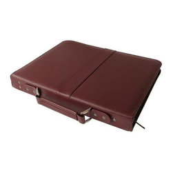 Alvin and Company - Leather Presentation Case with Protective Sle - Choose Size: 8.5 in. L x 11 in. WWith a luxurious burgundy leather exterior and multiple acid free protective sleeves, this durable presentation case will be an excellent way to showcase your work. It features a professional design that will provide an elegant backdrop for plans, documents, blueprints and more, and features an interior pocket for additional storage. Includes 10 acid-free archival protective sleeves and a leather ID tag. Ergonomic leather handle is spine mounted and folds flat for seamless presentations. Interior features a full-size pocket for storage, an elastic strap to secure protector pages, and no-snag 1 in. rings for binding. Black velvet interior lining for an elegant, professional look. Premium case of genuine leather with a rugged nylon coil zipper