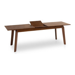 Slice Cocoa Expandable Dining Table