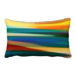 Abstract Art Fury Sunset Pillow - BUY HERE: VangsgardGallery