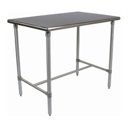None - John Boos Cucina Americana Classico Table 48x30x36 and Bonus Cutting Board - John Boos has created a high quality Cucina Classico table crafted of stainless steel with polished bull nose corners and edges. A stainless steel base and adjustable feet offer a sturdy design.