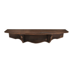 "Lightaccents - Parisian Home Distressed Rustic Solid Wood Vintage Wall Shelf (Maple) - An attractive and functional wall-mounted distressed Shabby Chic shelf for the home. Great for adding a touch of elegance for the home entry. These shelves are built out of pine in an antique, distressed fashion. This means that they have knots, imperfections, nail holes of the wood left in them so that they have an old appearance, even with the plain color of paint. Great for that ""worn"" look.. No assembly required. Mounting hardware included."