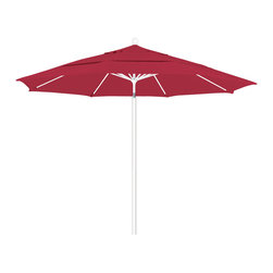 California Umbrella - 11 Foot Sunbrella Fabric Aluminum Pulley Lift Patio Market Umbrella, White Pole - California Umbrella, Inc. has been producing high quality patio umbrellas and frames for over 50-years. The California Umbrella trademark is immediately recognized for its standard in engineering and innovation among all brands in the United States. As a leader in the industry, they strive to provide you with products and service that will satisfy even the most demanding consumers.