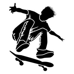 Stencil Ease - Pop Shove It Skateboarding Stencil - Pop Shove It Skateboarding Stencil - BASIC Stencils Collection