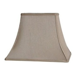 Home Decorators Collection - Home Decorators Collection Rectangular Bell 13 in. H x 18 in. W Large Grey Silk - Shop for Lighting & Fans at The Home Depot. The classic shape of our Rectangular Bell Silk Lamp Shade will complement a wide variety of decorating concepts. The gentle curves and pointed corners make a striking statement. Add this beautiful shade to your lamp and order yours today.