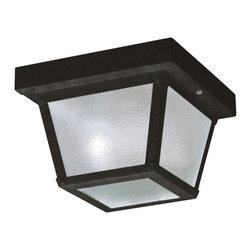 Kichler Lighting - Kichler Lighting 365BK Painted Black Outdoor Flush Mount 12 Pack - Kichler Lighting 365BK Painted Black Outdoor Flush Mount