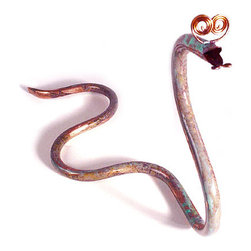 'Copper-Head' Garden Snake - This little garden snake is a fun plan on the less fun real copper heads. I would much rather run into him in my garden than the real thing. Maybe he'll keep the bad guys away?