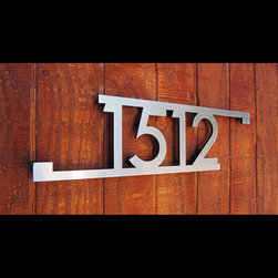 Address Plaques - CUSTOM Modern Bars & Squares House Number Sign in Stainless Steel