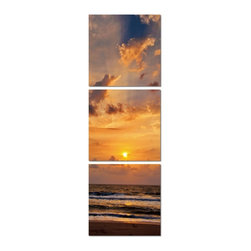 Fading Sunset Photograph - 3 Pieces, 28x84 - The success of our pictures is all about combining the most hi-resolution images with the best material. Our unique printing process makes the hi-resolution images truly stunning and vibrant. The vivid outstanding colors truly captivate the viewer, and will provide a contemporary feel to any room in your home.