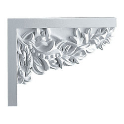 """Ekena Millwork - 9""""W  x 7 1/4""""H x  3/4""""P Attica Small Stair Bracket, Right - 9""""W  x 7 1/4""""H x  3/4""""P Attica Small Stair Bracket, Right. With the beauty of original and historical styles, decorative stair brackets add the finishing touch to stair systems. Manufactured from a high density urethane foam, they hold the same type of density and detail as traditional plaster stair bracket products. They come factory primed and can be easily installed using standard finishing nails and/or polyurethane construction adhesive."""