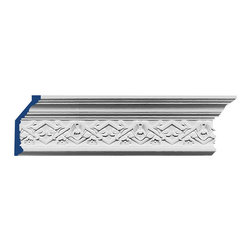 "Inviting Home - Wessex Crown Molding - Wessex crown molding 5-11/16""H x 2-3/4""P x 6-1/16""F x 6'6""L repeat - 3"" 4 piece minimum order required crown molding specifications: - outstanding quality crown molding made from high density polyurethane: environmentally friendly material is hypoallergenic and fully recyclable no CFC no PVC no formaldehyde; - front surface of this molding has extra durable and smooth surface; - crown molding is pre-primed with water-based white paint; - lightweight durable and easy to install using common woodworking tools; - metal dies were used for consistent quality and perfect part to part match for hassle free installation; - this crown molding has sharp deep and highly defined design; - matching flexible molding available; - crown molding can be finished with any quality paints; Polyurethane is a high density material--it's extremely lightweight and easy to install (and comes primed and ready to paint). It is a green material meaning its CFC and formaldehyde free. It is also moisture resistant--so it won't shrink flex or mold. What's also great about Polyurethane is that it's completely customizable and can be treated as wood (you can saw it nail it screw it and sand it). In addition our polyurethane material comes primed and ready to paint. There is a four piece minimum requirement for this molding purchase."
