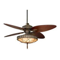 """Fanimation - Fanimation Bayhill 56"""" Traditional Ceiling Fan with Amber Bowl & Filigree X-ZV07 - Old world charm and sophistication come to life in this beautiful collection by Lauren Brooks. With its warm Venetian bronze finish and custom wood blades this fan will accentuate any room in your house."""